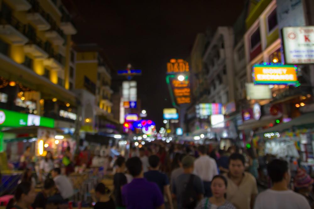 Nightlife on Khao San Road, Bangkok, Thailand