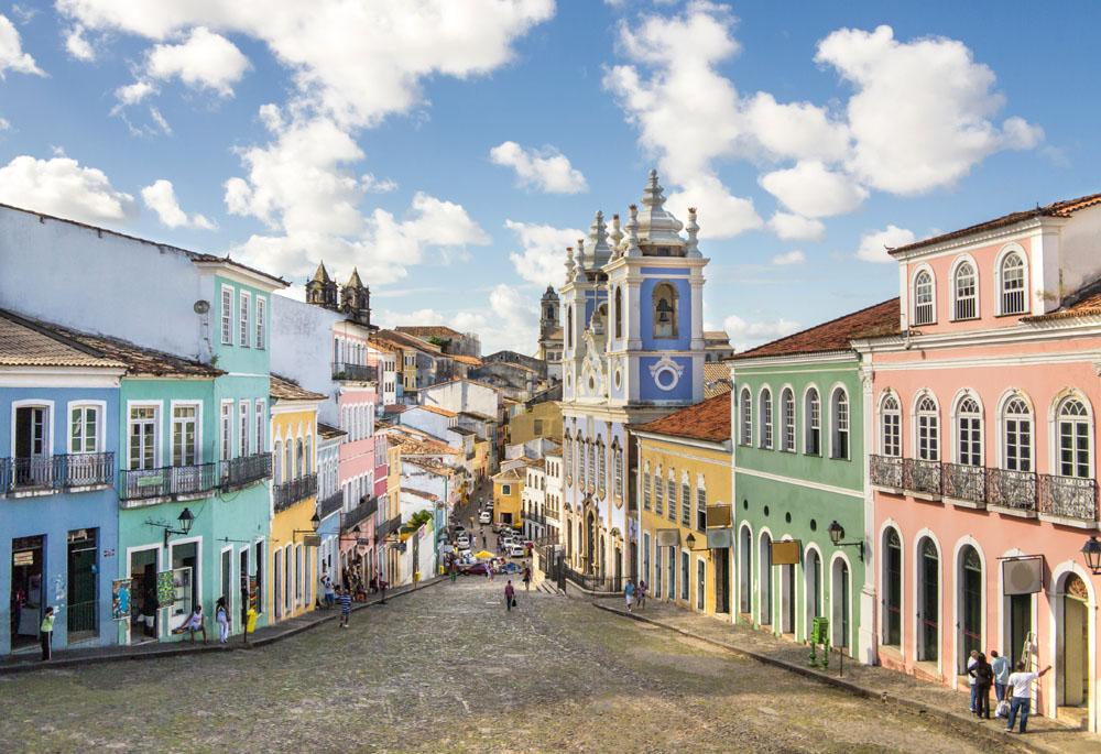 Pelourinho District in Salvador da Bahia, Brazil