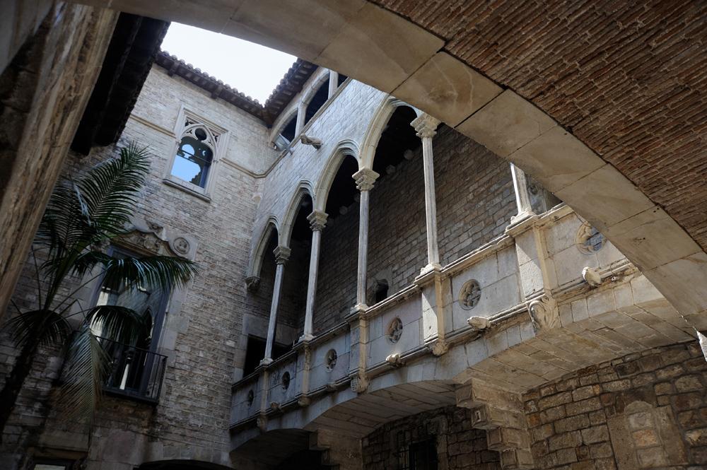 Picasso Museum cloister, Barcelona, Spain
