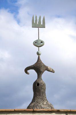 Sculpture outside of the Joan Miro Foundation, Barcelona, Spain