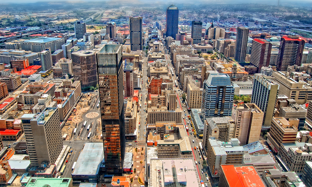 Skyscrapers in the CBD (Central Business District), Johannesburg, South Africa
