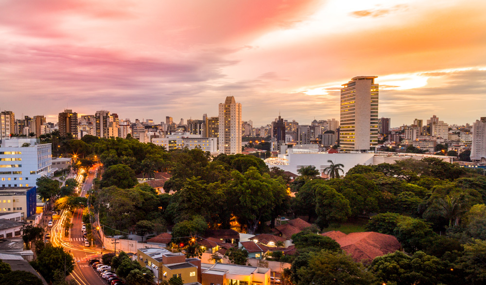 Sunset view of Belo Horizonte, Brazil