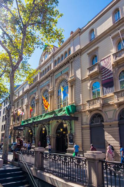 Teatre Del Liceu opera house in Barcelona, Spain