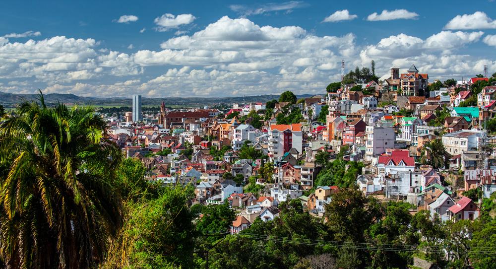 Antananarivo on a sunny day, Madagascar