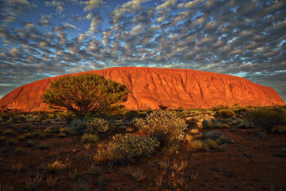 Ayers Rock (Uluru) in the morning, Northern Territory, Australia