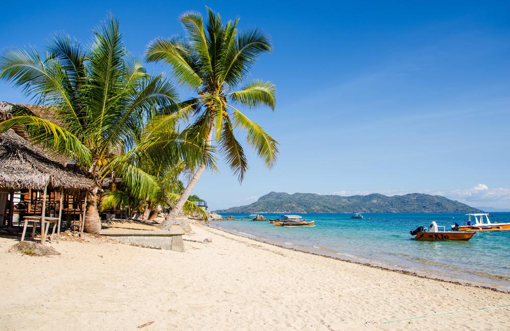 Beautiful beach on the island of Nosy Komba, Madagascar