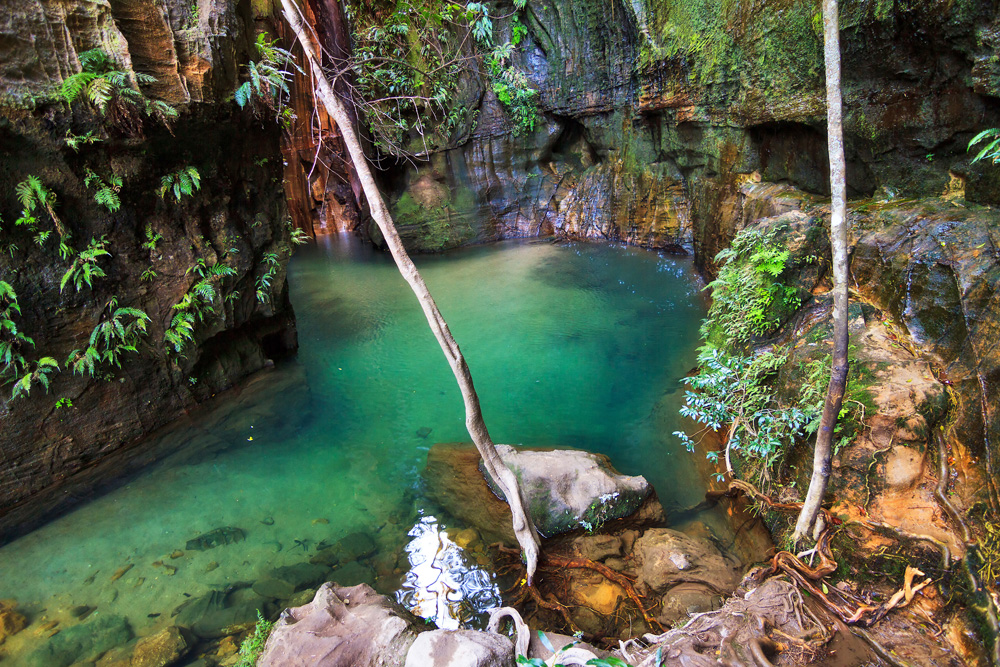 Beautiful river in a canyon in Isalo National Park, Madagascar