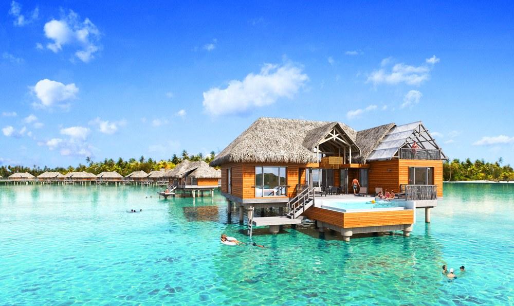 Brando suite with Pool, Tetiaroa, Tahiti (French Polynesia)