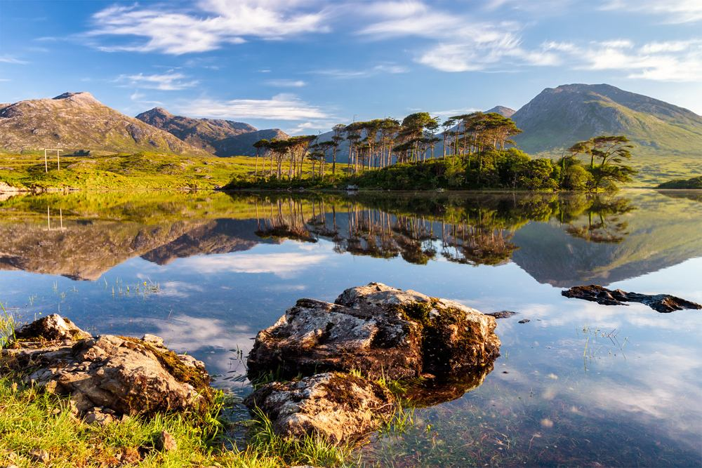 Derryclare Lough with Connemara mountains in the background, Ireland
