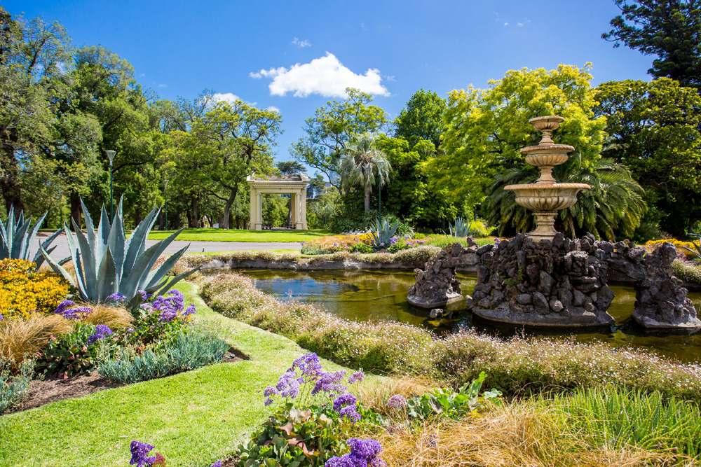Fitzroy Gardens in Melbourne, Australia