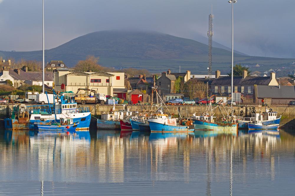 Irish seaport scenery in Dingle, County Kerry, Ireland