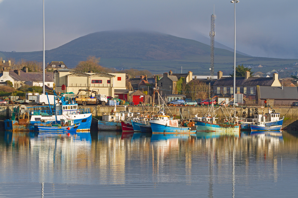 Irish seaport scenery in Dingle, County Kerry, Ireland