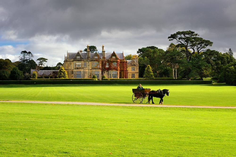 Muckross House and gardens in Killarney National Park, Ireland