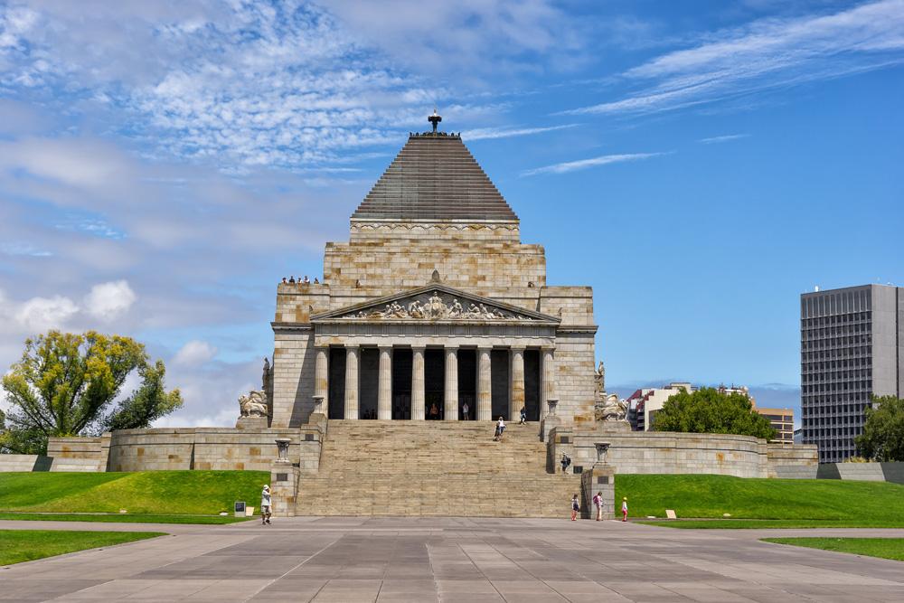 Shrine of Rememberance in Melbourne, Australia