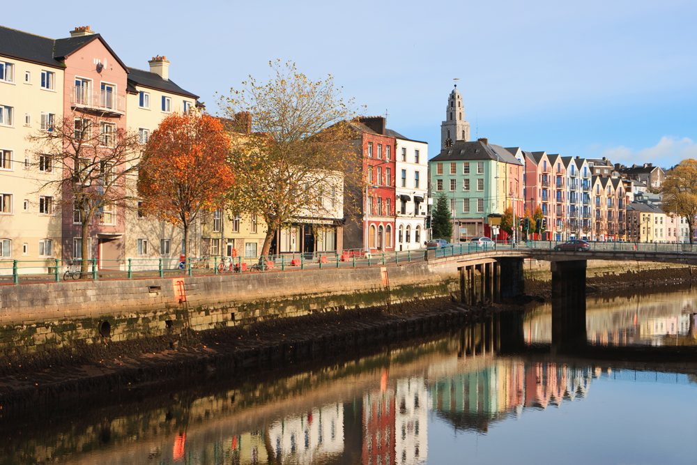St Patrick's Quay on the north channel of River Lee, Cork City, Ireland