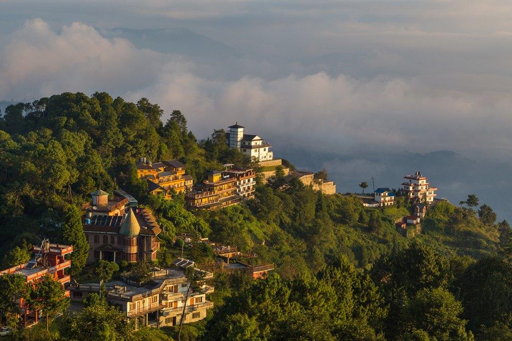 Sunrise in Nagarkot in the Kathmandu Valley, Nepal