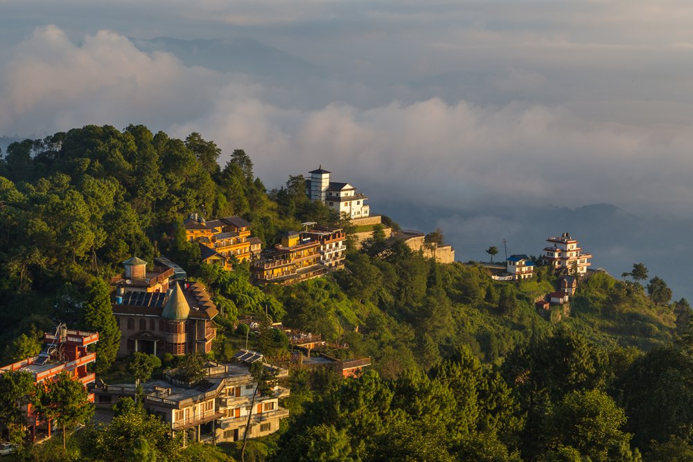 Sunrise in Nagarkot in the Kathmandu Valley, Nepal