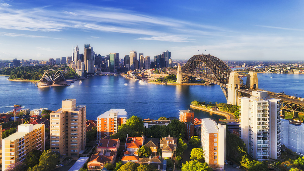 Sydney on a bright sunny day, New South Wales, Australia