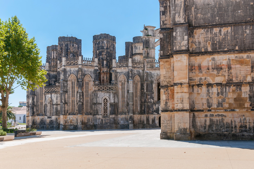 The Unfinished Chapels in Batalha Monastery, Portugal