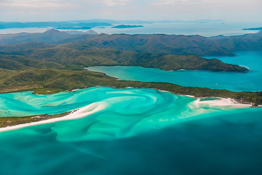 Whitehaven Beach in the Whitsundays, Queensland, Australia