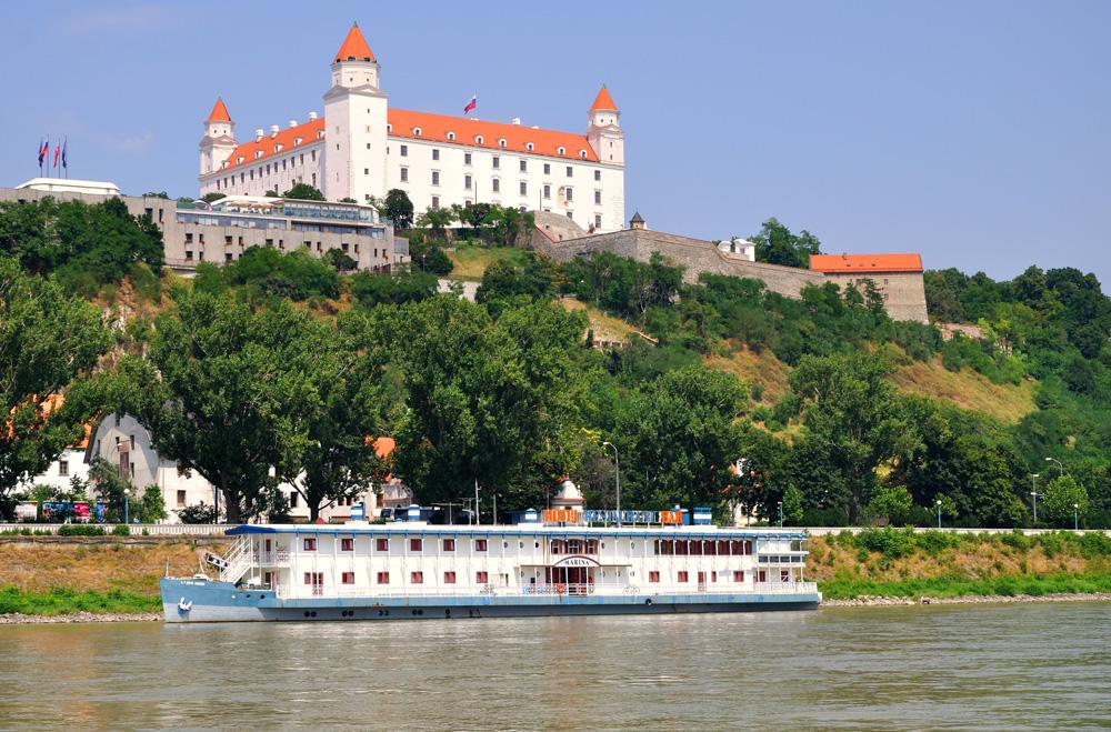 Bratislava Castle on the north bank of the Danube, Bratislava, Slovakia
