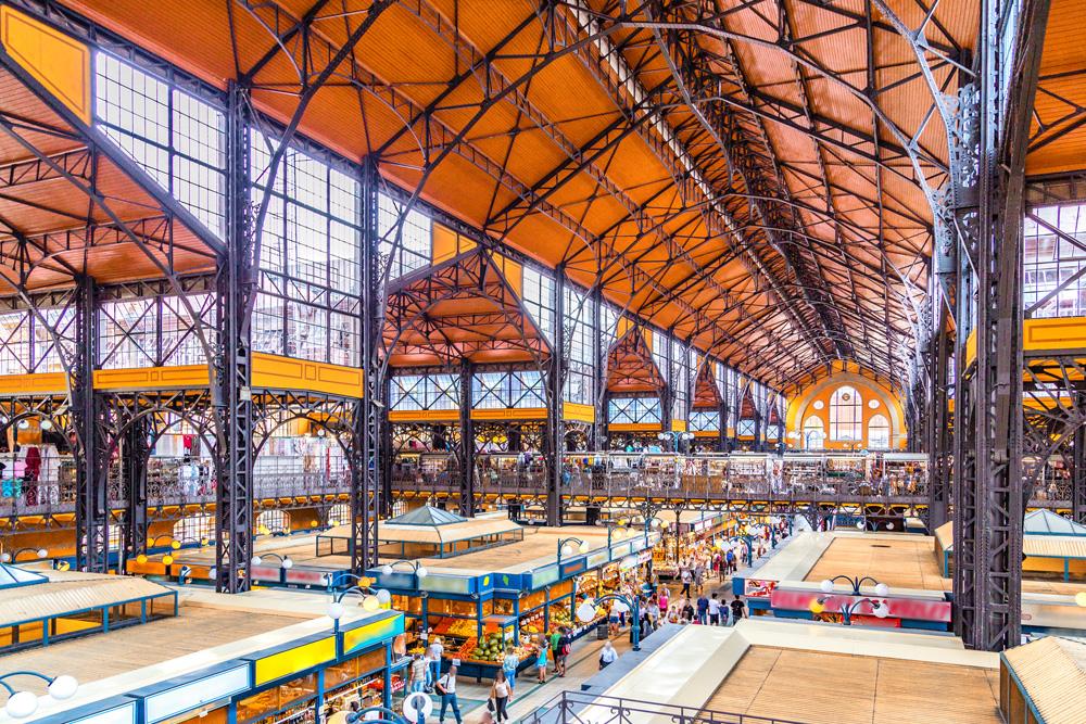 Central Market Hall interior, Budapest, Hungary