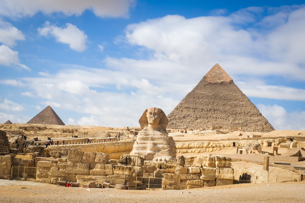 Giza Pyramids and Sphinx, Cairo, Egypt