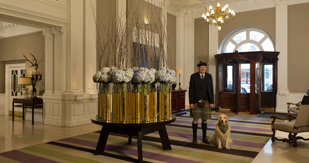 Lobby at The Balmoral in Edinburgh, Scotland, UK (United Kingdom)