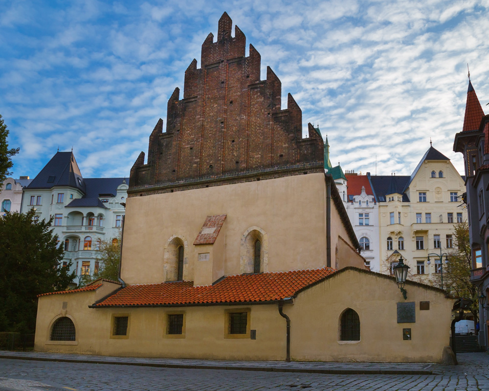 Old New Synagogue (Staronova Synagogue) in Jewish Quarter, Prague, Czech Republic