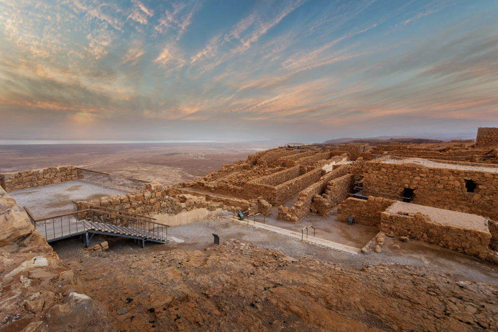 Ruins of King Herod's palace at Masada Fortress, Israel