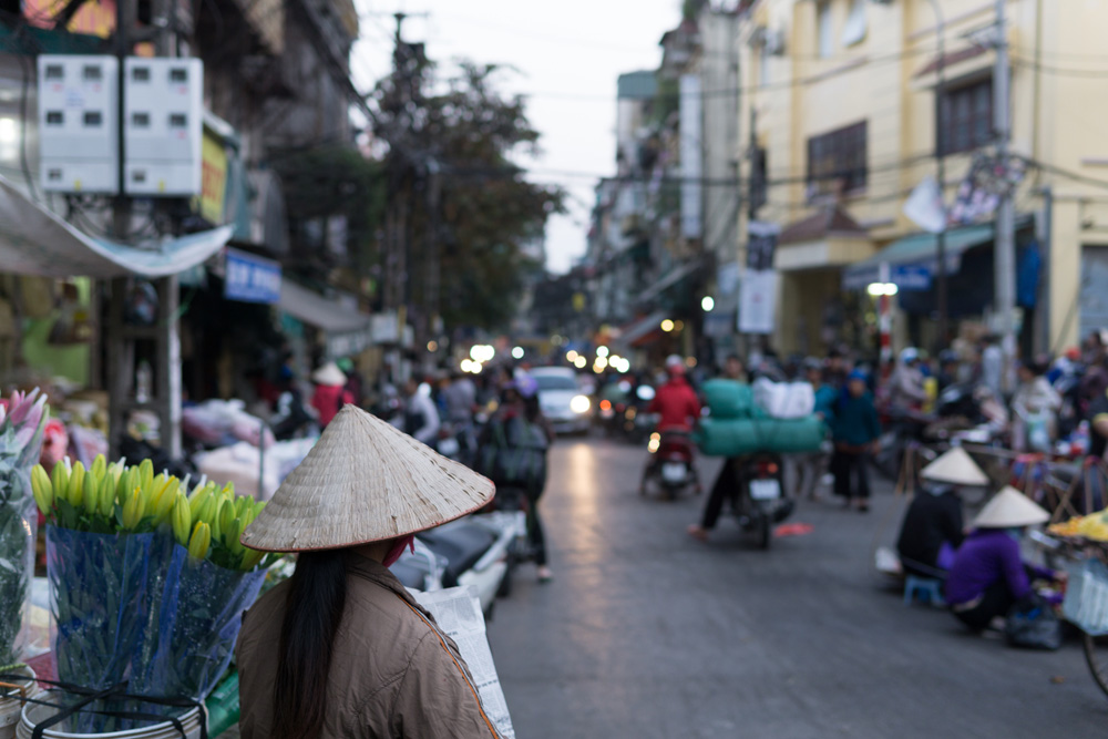 Street life in the Old Quarter, Hanoi, Vietnam