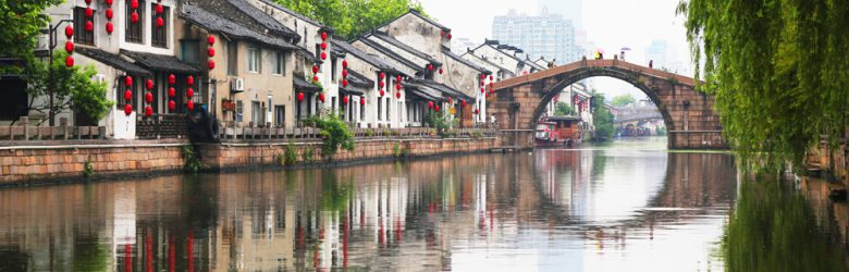 Canal in Wuxi, China