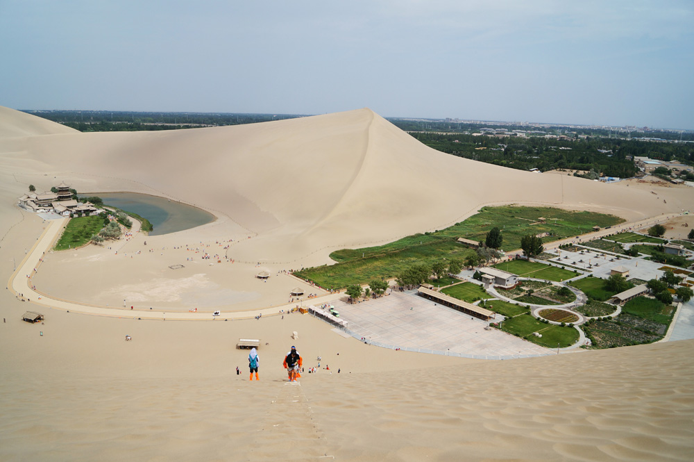 Crescent Lake and Echoing Sand Mountain, Dunhuang, China