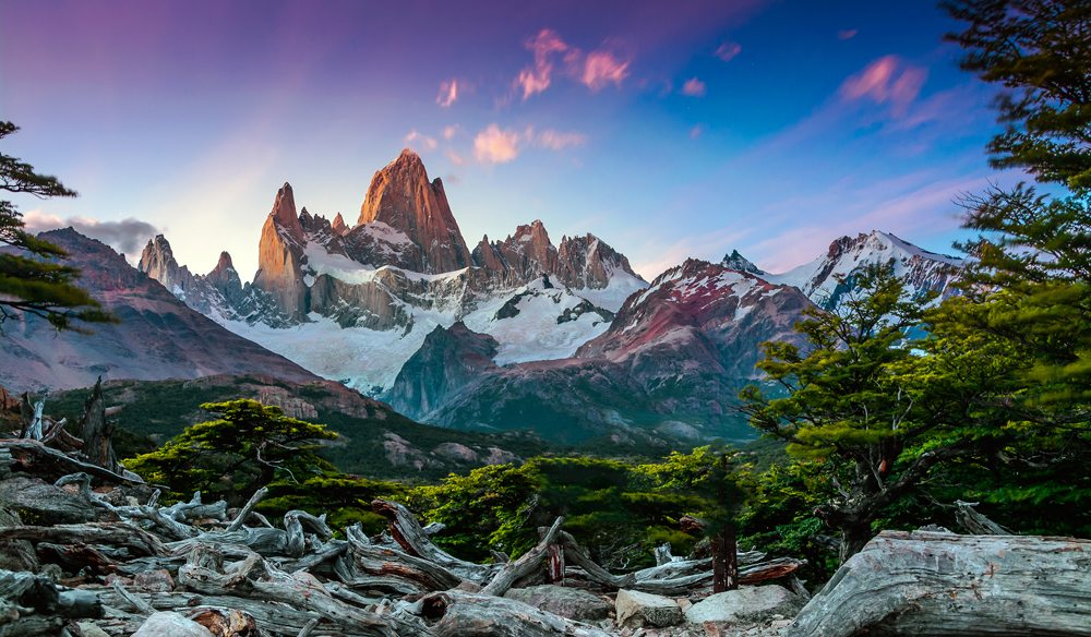 Fitz Roy mountain near El Chalten, in the Southern Patagonia, on the border between Argentina and Chile