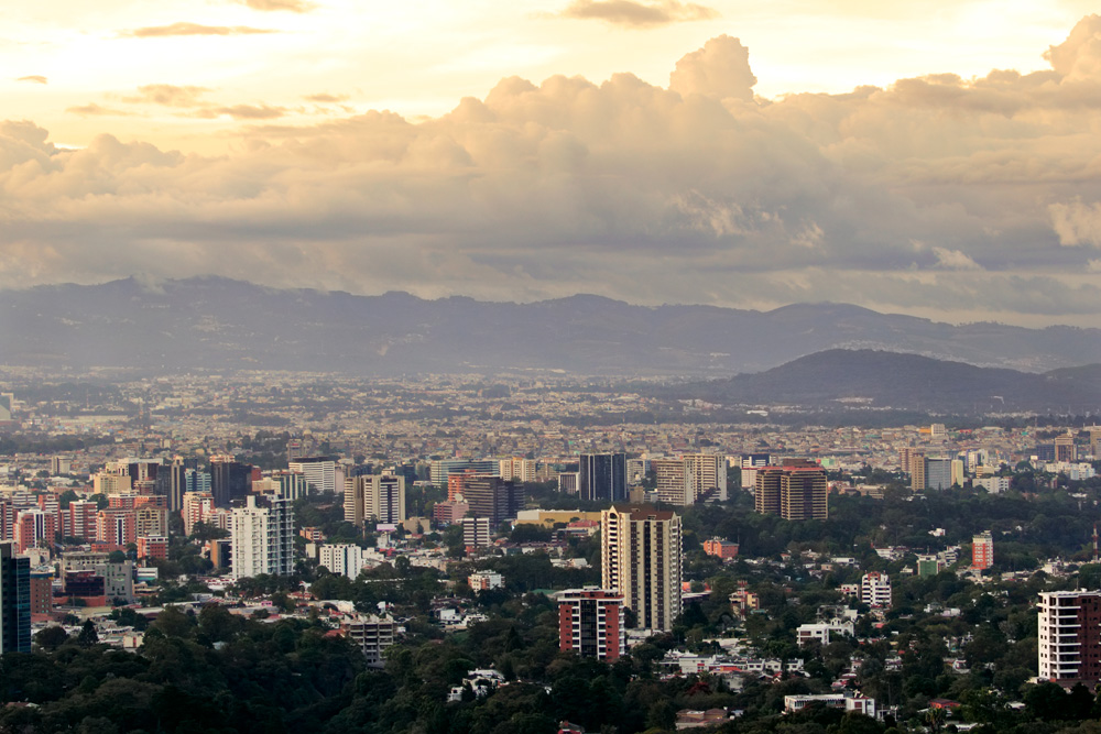 Panoramic view of Guatemala City in the afternoon, Guatemala