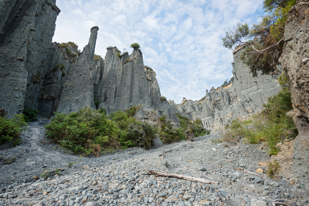 Putangirua Pinnacles in the Aorangi Ranges, North Island, New Zealand