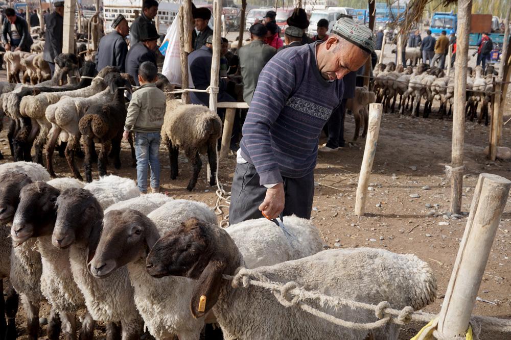 Sunday Market in Kashgar, China