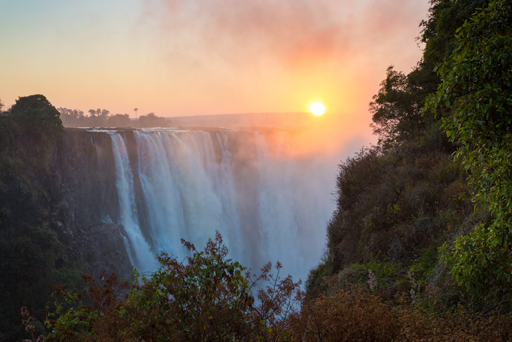 Victoria Falls in the morning light, Zimbabwe