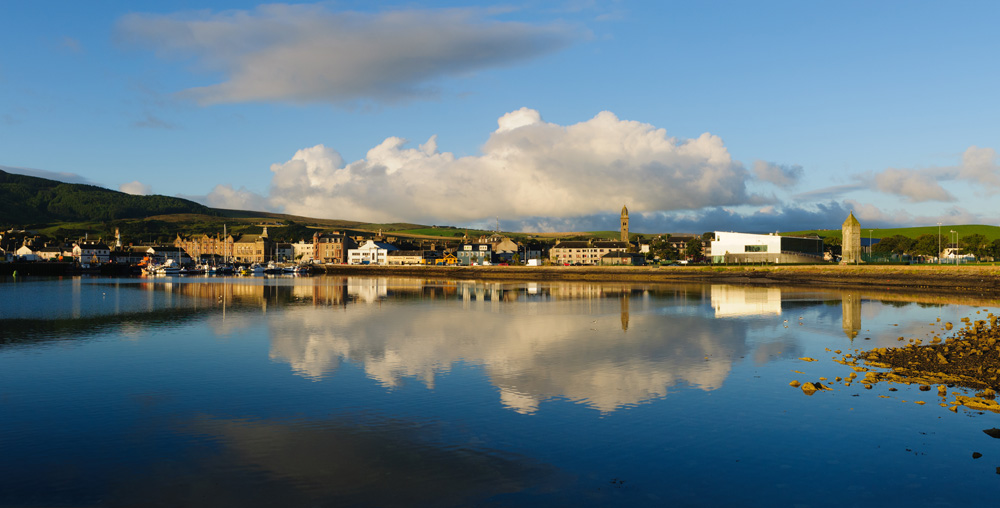 View of Campbeltown, Argyll early in the morning, Scotland, UK (United Kingdom)