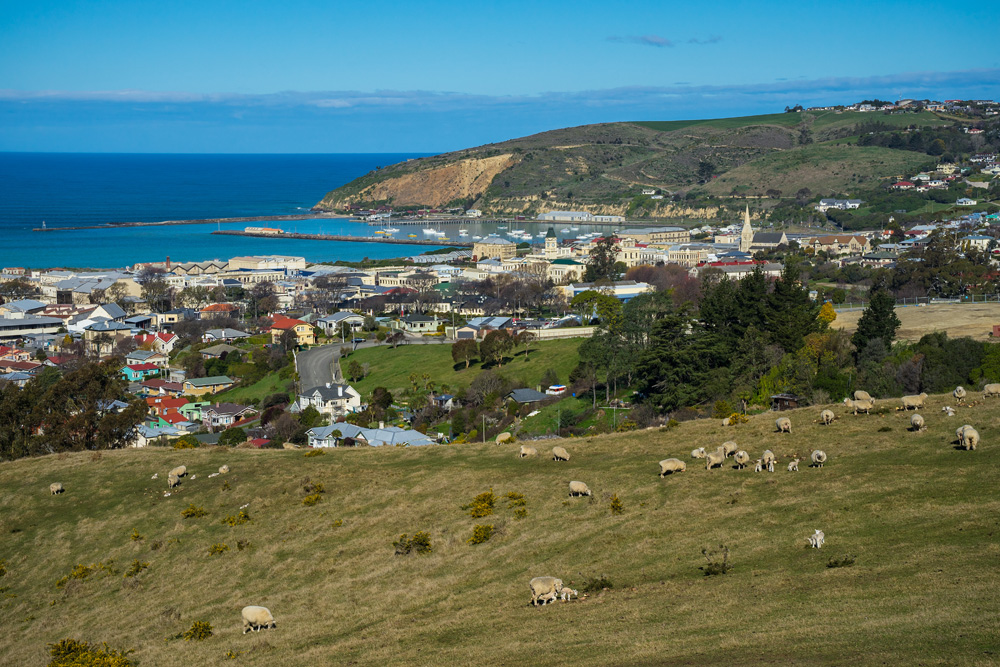View of Oamaru town in New Zealand