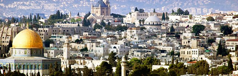 View of the Old City from Mount of Olives, Jerusalem, Israel