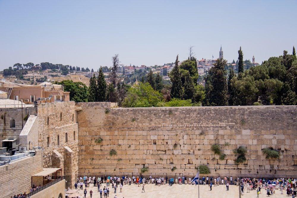 Western Wall (Wailing Wall) in the Jewish Quarter, Jerusalem, Israel