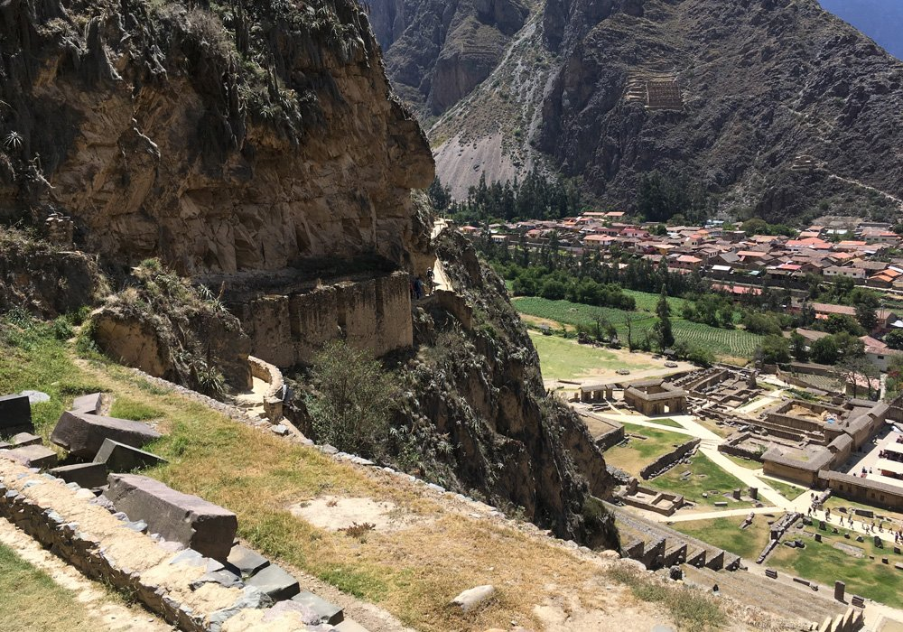 Aren Bergstrom - Overlooking the Town of Ollantaytambo, Sacred Valley, Peru