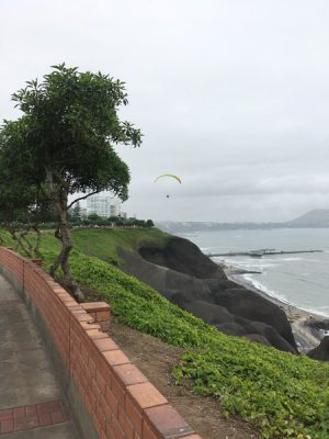 Aren Bergstrom - Paragliding Off Cliffs of Miraflores, Lima, Peru