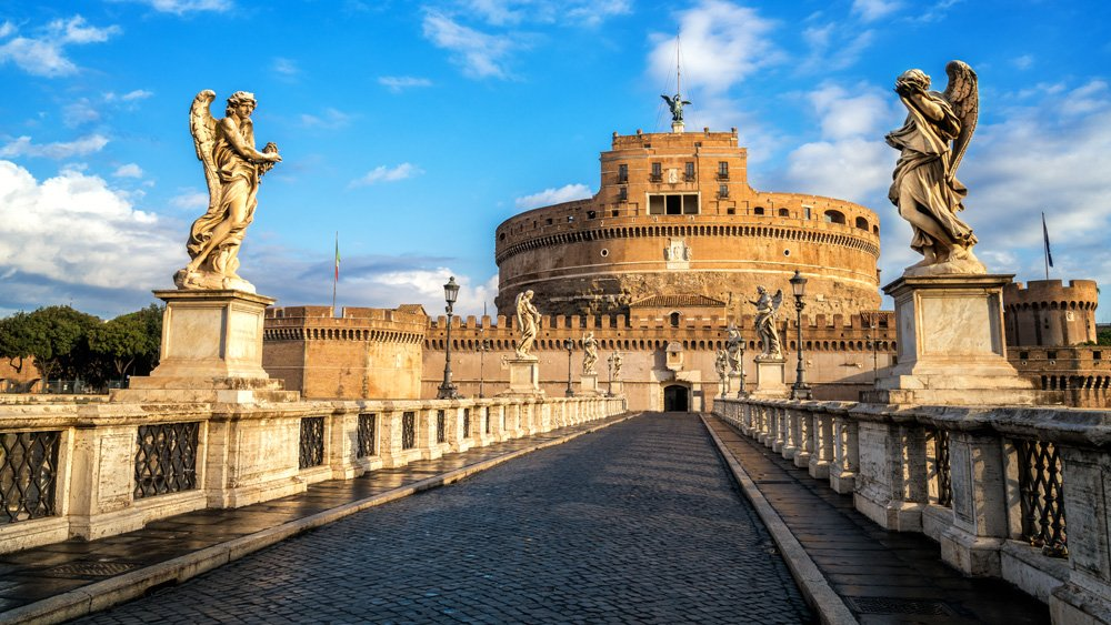 Castel Sant'Angelo or Mausoleum of Hadrian in Rome, Italy