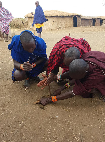 Christian Baines - Traditional fire starting techniques by the Maasai, Amboseli, Kenya