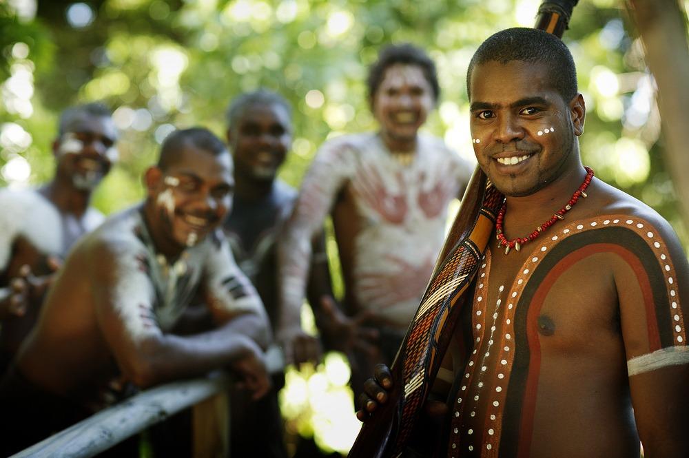 Dance Group from Tjapukai Aboriginal Culture Park, Queensland, Australia