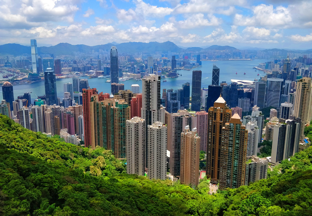 Hong Kong skyline from Victoria Peak, Hong Kong