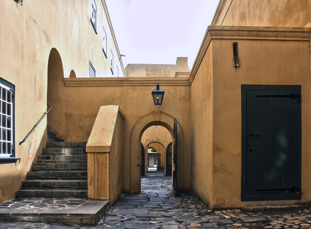 Inside the Castle of Good Hope walls, Cape Town, South Africa