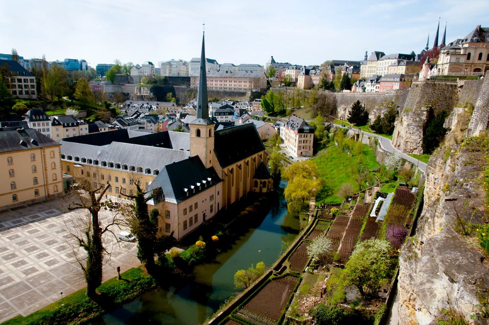 Neumunster Abbey in Luxembourg City, Luxembourg